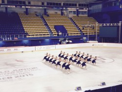 The Lexettes on the ice for their last unofficial practice before competition begins tomorrow